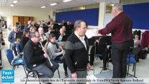 Les premières répétitions de l'harmonie municipale de Romilly à l'école Romain-Rolland
