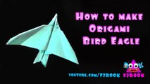How to Make Eagle Bird - Easy Paper Folding - Origami Eagle - Art By F2BOOK