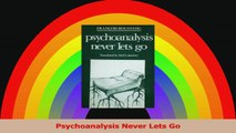 Psychoanalysis Never Lets Go Download