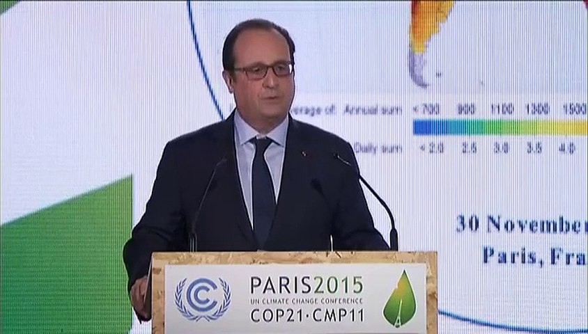 En marge de la COP21, Hollande lance l'Alliance solaire internationale