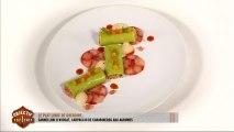 Le plat libre de Grégoire : cannelloni d'avocat, carpaccio de carabineros aux agrumes