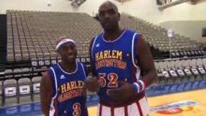 Harlem Globetrotter basketball drills