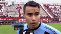 Zelarayán: El grupo se lo merece. Huracán 1 - Belgrano 1. Fecha 30. Primera División 20