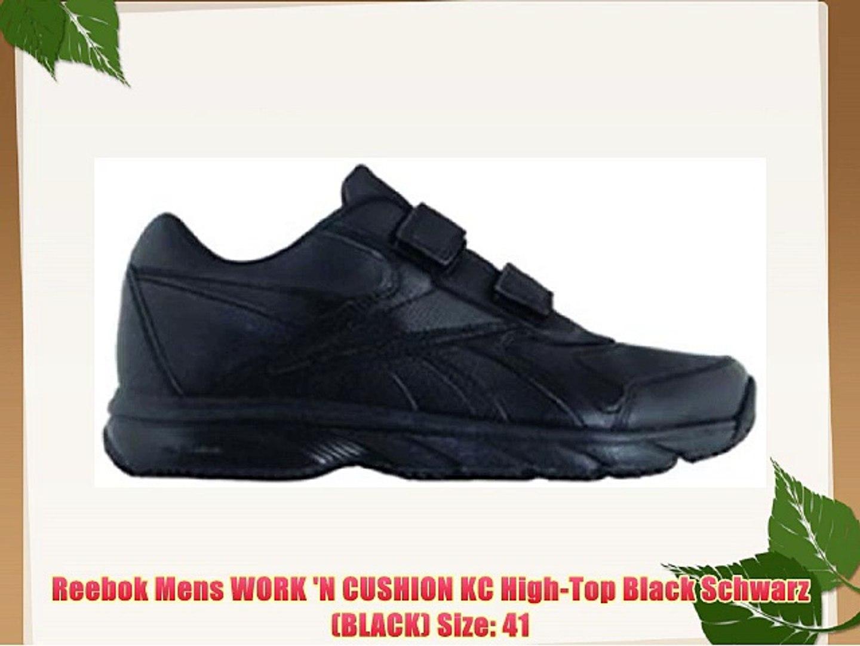 2e79ea7d8d244 Reebok Mens WORK 'N CUSHION KC High-Top Black Schwarz (BLACK) Size: 41