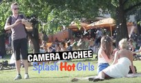Caméra cachée: Éclabousser de jolies filles en public !