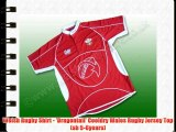 Welsh Rugby Shirt - 'Dragontail' Cooldry Wales Rugby Jersey Top (sb 5-6years)