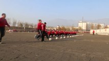 Shaolin Students Train for Kung Fu Soccer at the Shaolin Football Academy