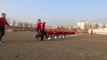 Shaolin Students Train for Kung Fu Soccer at the Shaolin Football Academy