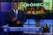 Crónica Viva – Deportan a ciudadano colombiano acusado de homicidio en su País