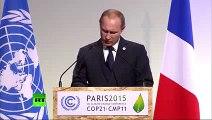 COP21 Putin speaks at Paris Climate Change Conference (ENGLISH TRANSLATION)