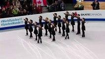 Elles patinent au centre de la glace, lorsque la musique commence, personne ne s'attend à ça!