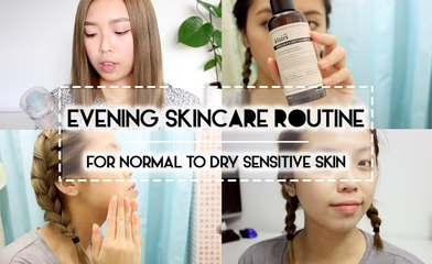 GIVEAWAY & SKINCARE | Evening Skincare Routine Suitable for Sensitive Normal to Dry Skin