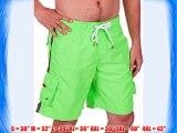 Sakkas B3118SN Mens Solid Color with Contrast Stripes Skate Surf Board Short / Swim Trunks