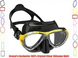 Cressi Eyes Evolution Scuba Diving Snorkeling Mask (Made in Italy) Black/Yellow