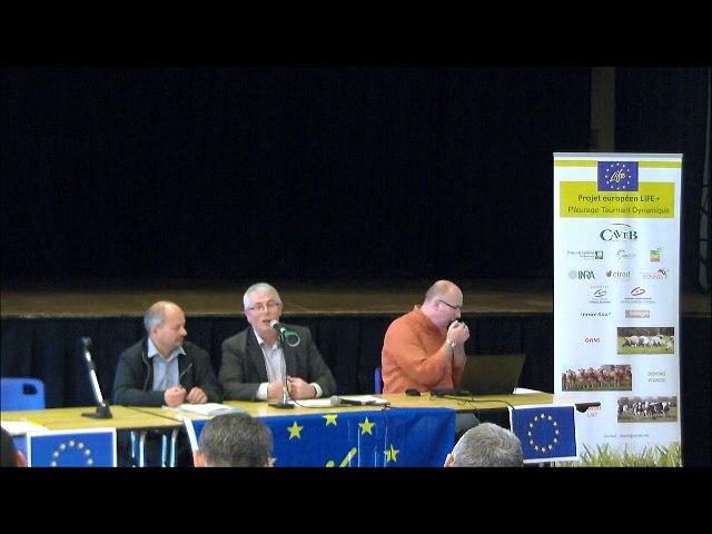 Témoignage d'un éleveur et échanges avec la salle - Séminaire Life PTD du 15 Octobre 2015 au Tallud (79)