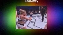 RondaRousey  ko  ufc  mma  kickboxer  comedy  sport  edm  redroses  pep rash  hollyholm  epic  funny