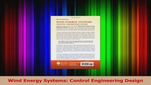 PDF Download  Wind Energy Systems Control Engineering Design Read Online