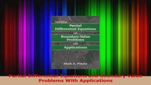 Read  Partial Differential Equations and Boundary Value Problems With Applications Ebook Free