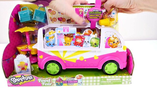 Play Doh Shopkins Ice Cream Truck - - - Shopkins Food Fair Surprise Eggs Toy Unboxing DCTC
