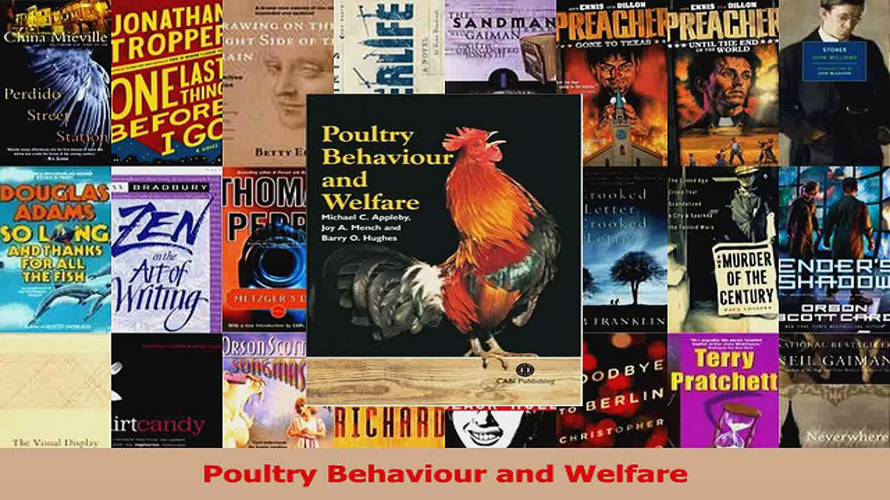 PDF Download  Poultry Behaviour and Welfare PDF Online