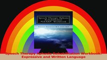 Speech Therapy Aphasia Rehabilitation Workbook Expressive and Written Language PDF