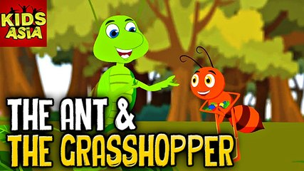 Tales Of Panchatantra | The Ant & The Grasshopper | Kids Animated Story | Kids Asia