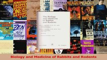 PDF Download  Biology and Medicine of Rabbits and Rodents PDF Online