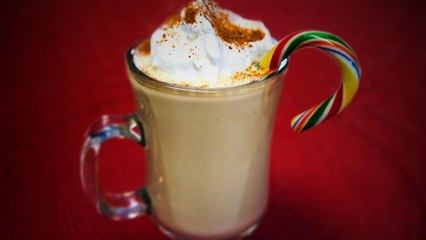 Boozy Eggnog Coffee Ice Cream Shake, A Cold Drink to Keep You Warm