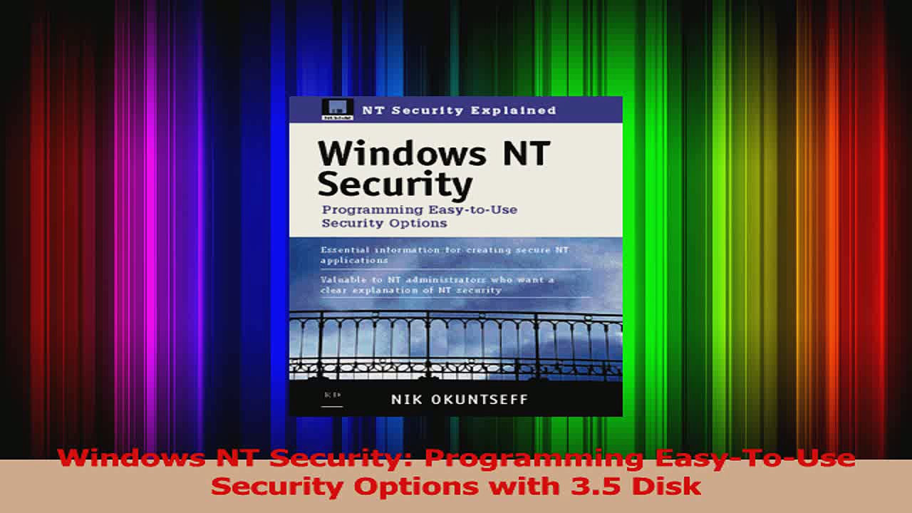 Download  Windows NT Security Programming EasyToUse Security Options with 35 Disk PDF Online