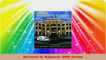 Burnout to Balance EMS Stress Read Online