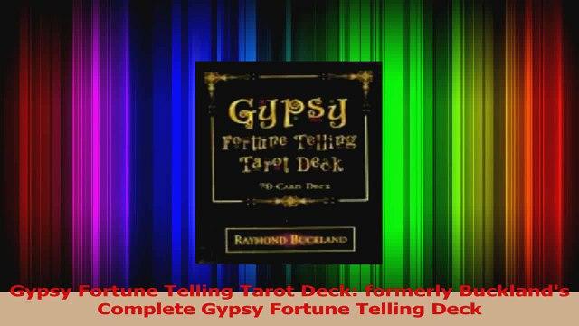 Gypsy Fortune Telling Tarot Deck formerly Bucklands Complete Gypsy Fortune Telling Deck Download
