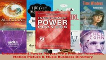 Read  Entertainment Power Players The Premier Television Motion Picture  Music Business Ebook Free