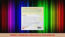 PDF Download  Palkos Medical Laboratory Procedures PDF Full Ebook