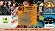 Download  40 Rhythmical Studies Eflat Alto Saxophone PDF Online