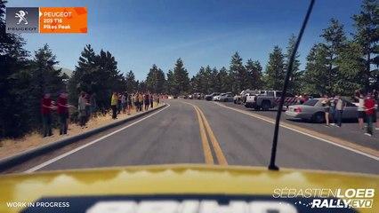 Les voitures de Pikes Speak de Sebastien Loeb Rally Evo