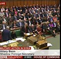Hilary Benn speaking before the Syria bomb vote