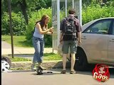 Gags Car Wheel thief Funny video clips and pranks, GAGS just for laughs!