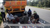 Protests at India-Nepal border means fuel shortages for Nepal