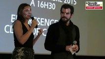 VIDEO. Châtellerault : Clotilde Courau au cinéma avant le théâtre