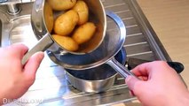 Super Quick Potato Peeling! - Life Hack