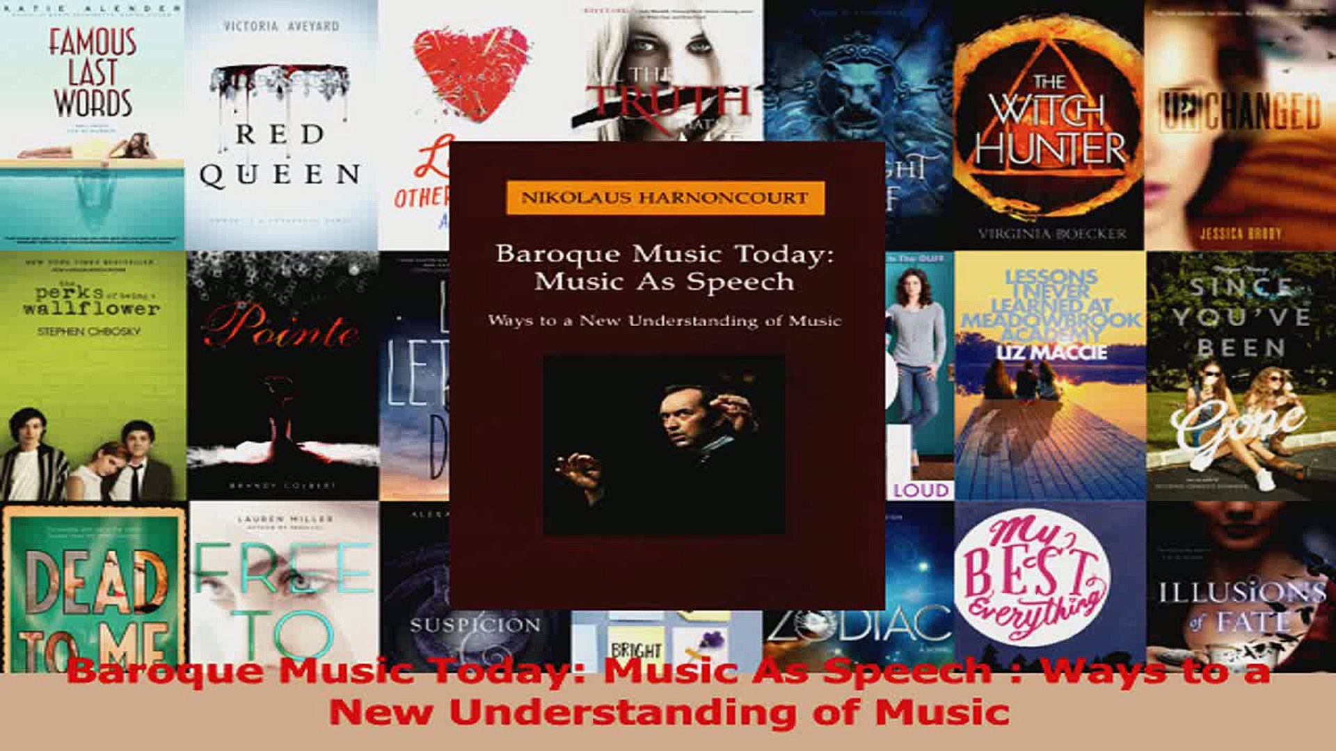 Download  Baroque Music Today Music As Speech  Ways to a New Understanding of Music Ebook Free