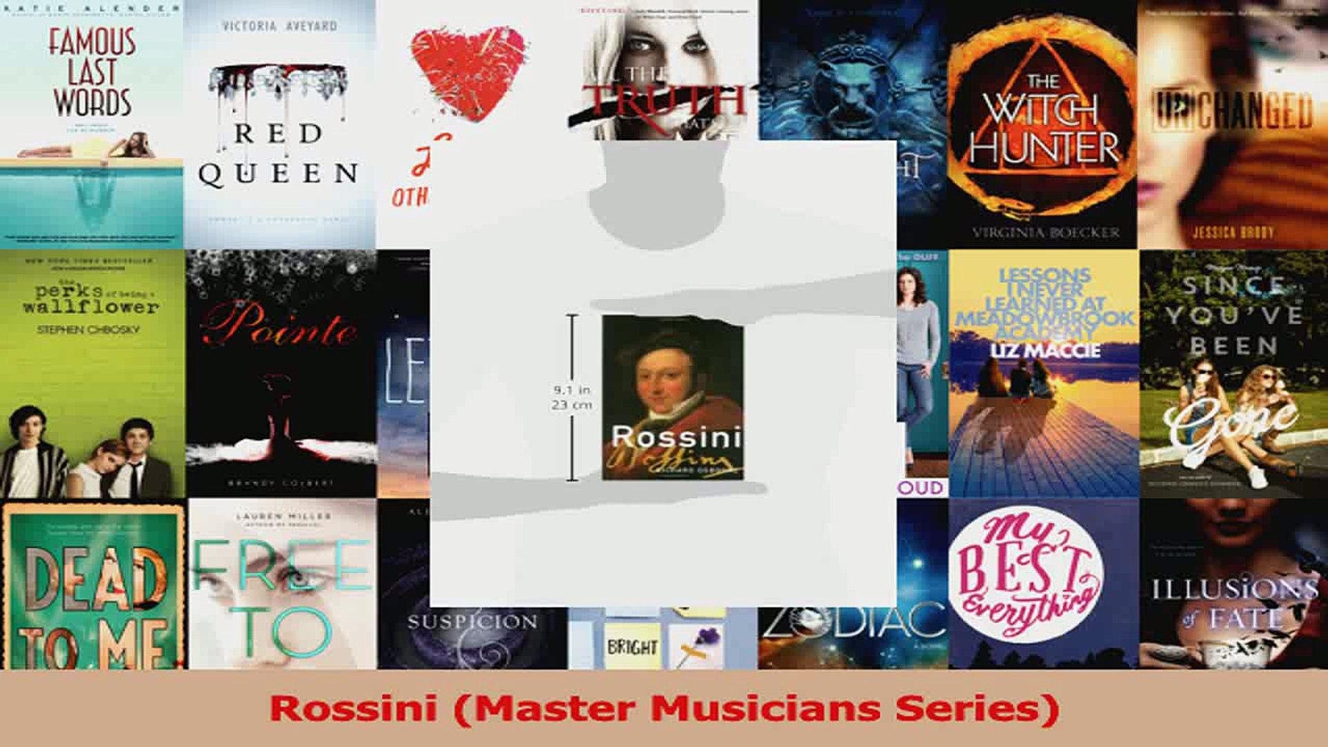Read  Rossini Master Musicians Series Ebook Free