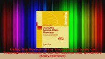 Read  Using the BorsukUlam Theorem Lectures on Topological Methods in Combinatorics and Ebook Online