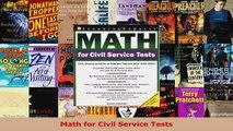 Download  Math for Civil Service Tests PDF Free