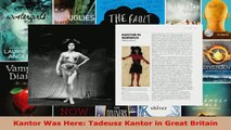 Read  Kantor Was Here Tadeusz Kantor in Great Britain PDF Online