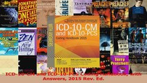 PDF Download  ICD10CM and ICD10PCS Coding Handbook with Answers 2015 Rev Ed Download Online