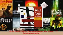 Download  Well Said Intro Pronunciation for Clear Communication Ebook Free