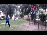 adil bin talat pakistan taekwondo champion jump axe kick