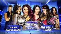 Sasha Banks & Naomi vs The Bella Twins   SmackDown