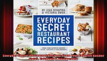 Everyday Secret Restaurant Recipes From Your Favorite Kosher Cafes Takeouts  Restaurants